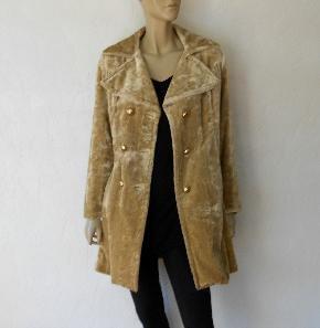 Vintage Velvet Coat, 70's Crushed Velvet Hippie Bohemian Coat