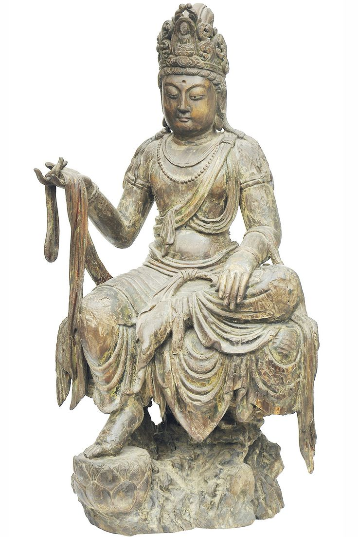 Chinese Carved Wood Figure of Bodhisattva.  http://shop.grahamgeddesantiques.com.au/chinese-decorative-objects/