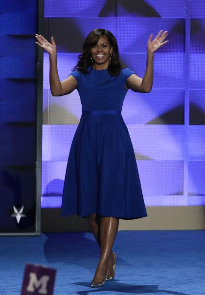 Michelle Obama in Christian Siriano at the 2016 Democratic National Convention