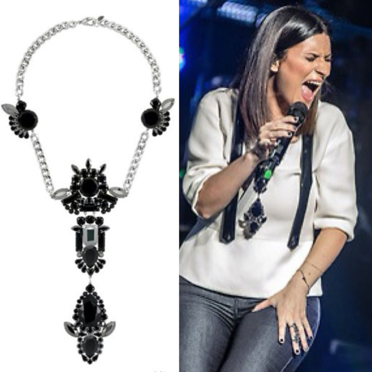 Laura Pausini wearing a Reminiscence necklace - 2014 -  #giuliapricca