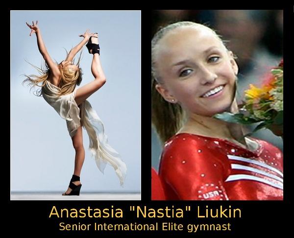 """Anastasia """"Nastia"""" Liukin  Senior International Elite gymnast  Inspirational fashion image."""