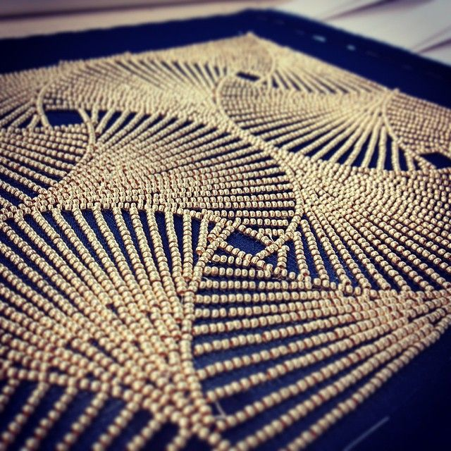 #embroidery #broderie #刺繍 #darkblue #gold #beads #couture #couturedetails #coutureembroidery #fashion #doha #qatar