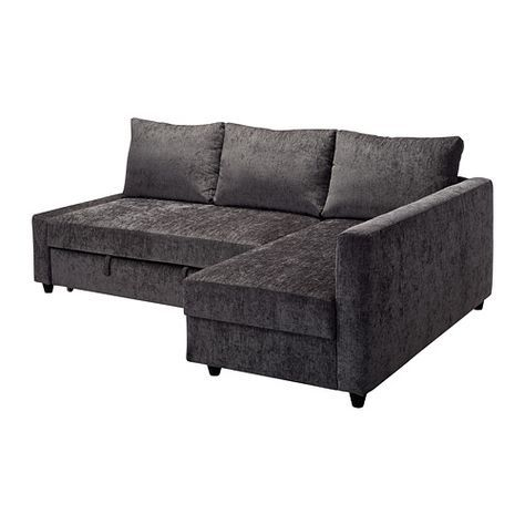 Charmant FRIHETEN Corner Sofa Bed With Storage Dark Grey
