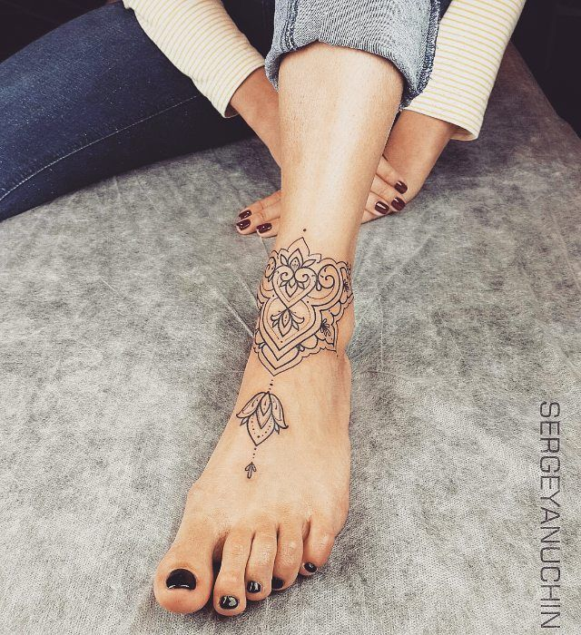 747 best tatouages images on pinterest lotus tattoo for Finding the best female ankle tattoos