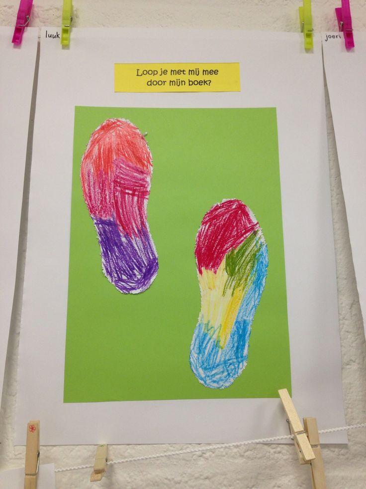 Bij de start van het schooljaar het voorblad voor het boek met alle werkjes van de kinderen.