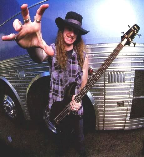 Cliff Burton - Who would have known that the machine behind him would play a part in his death.