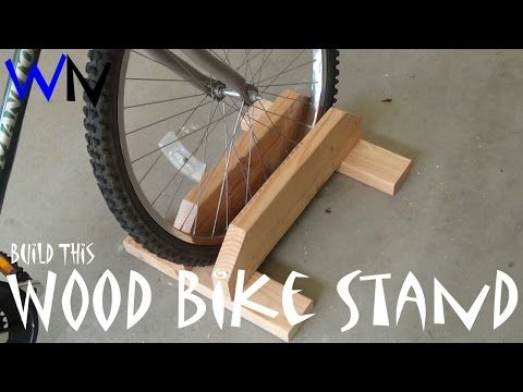 How to Build a Wood Bike Stand! - YouTube