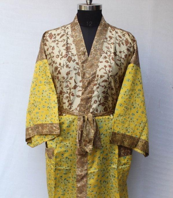 Women Luxury Long Smooth Silk Robe Robe with Elegant Bridal Wear Bridesmaid Wedding kimono High-quality Lingeries #MK 775