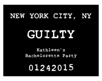 Bachelorette Party Mug Shot Signs // by FromMe2YouCreations