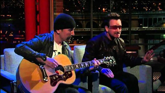 Stuck In a Moment - U2  U2 - Bono & The Edge Perform 'Stuck In a Moment' on David Letterman. Brilliant Acoustic version! This is why they're number one!