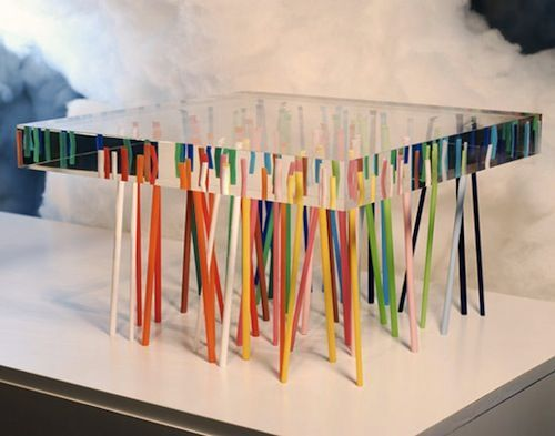 Aww yeah, we found the perfect table for the toy store... Acrylic Furniture by Emmanuelle Moureaux