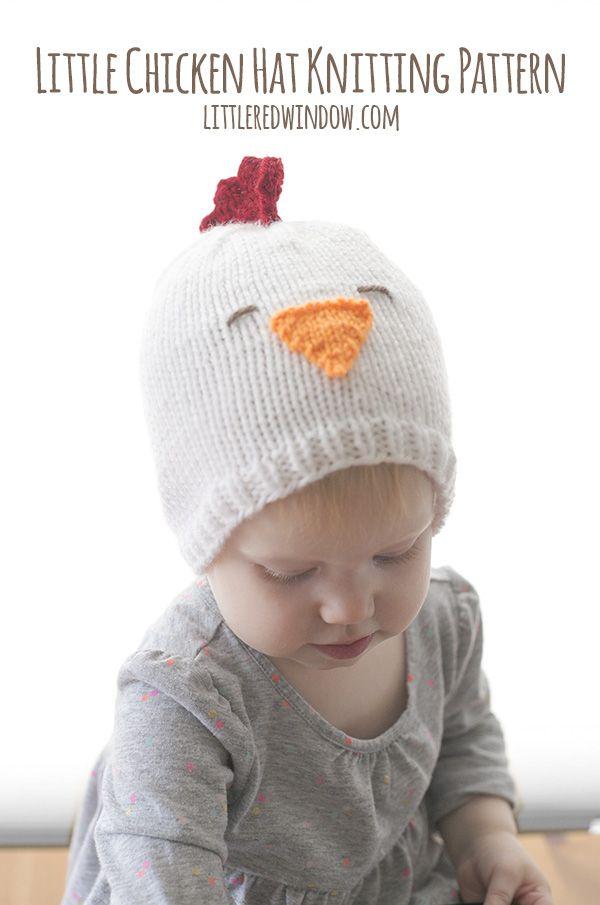 Little Chicken Hat Knitting Pattern | Pinterest | Gorros de lana ...