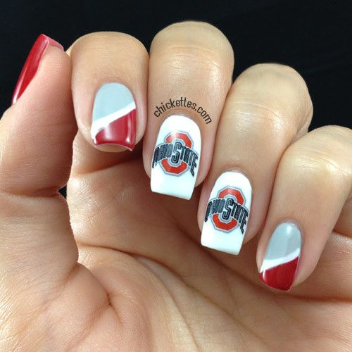 Ohio State Nail Art love these nails