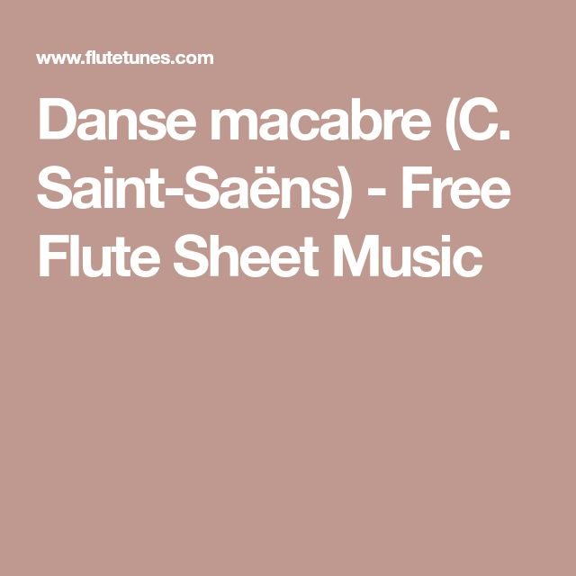 Nessun Dorma Lyrics Sheet Music: Danse Macabre (C. Saint-Saëns)