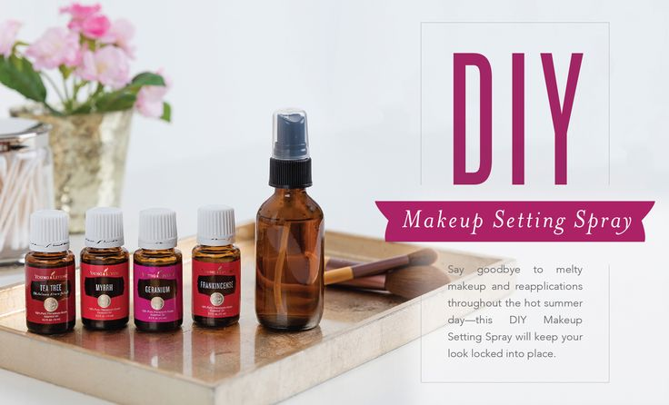 Get a smooth, dewy, long-lasting makeup look with this essential oil-infused DIY Makeup Setting Spray. With just three ingredients—all of them naturally derived—it can be made at a fraction of the cost of retail brands. This homemade Makeup Setting Spray can also be easily customized to your skin's needs: add Frankincense essential oil for ...