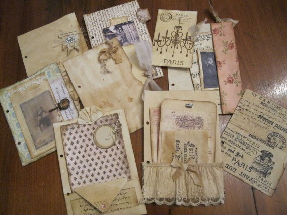 Vintage Looking Junk Journal Junk Journal with by VintageSnippets