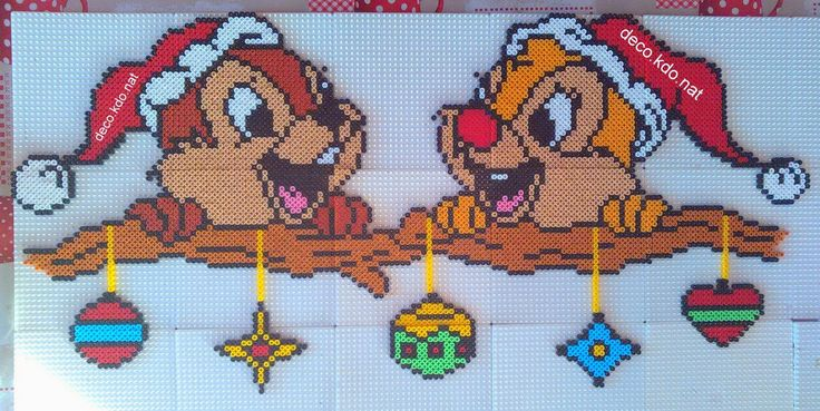 Chip & Dale - Christmas hama perler beads by Deco.Kdo.Nat