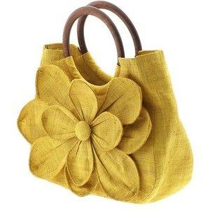 Springtime cuteness!: Yellow Purse, Handmade Purses, Purses Bags, Yellow Flower, Guadeloupe Flower