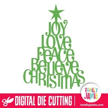 Whimsical Christmas Phrases Tree – TotallyJamie: Illustration and SVG Die Cutting Files