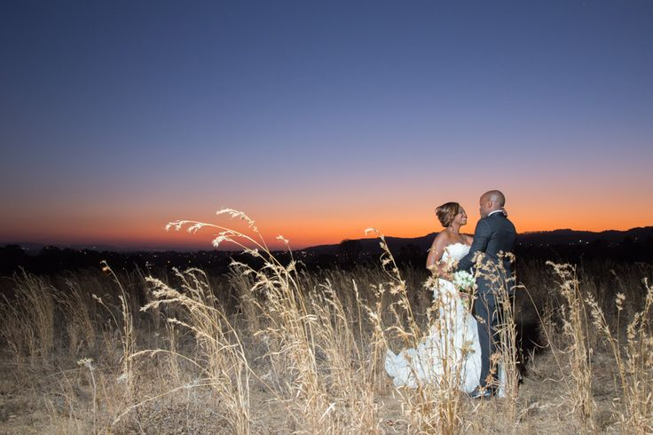 Rolling mountains and sunset, what better way to cast your most special day in stone than with a memory like this?