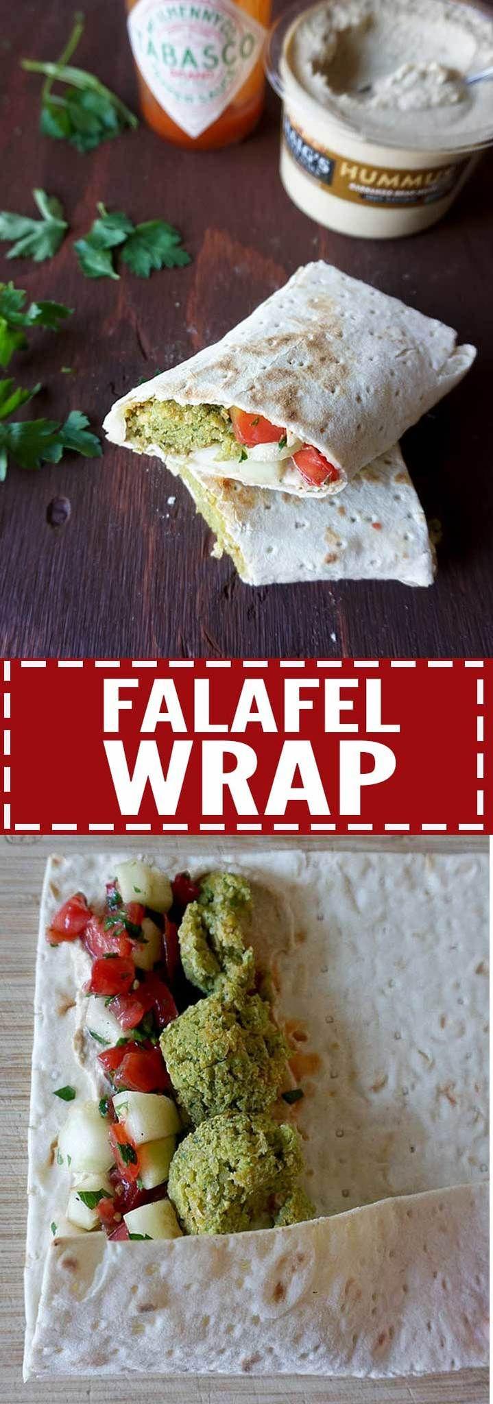 Vegan Falafel Wraps - an easy Meatless Monday lunch or dinner