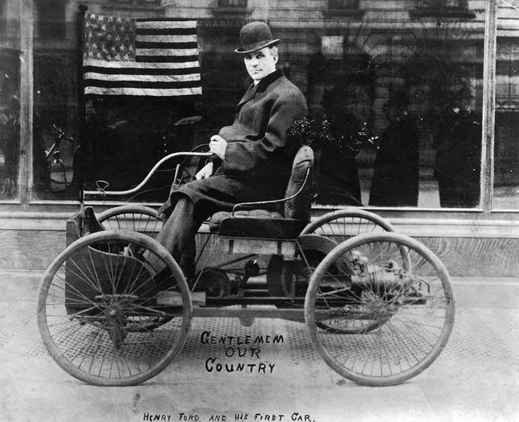 Henry Ford First Car | Henry Ford in his first car - a picture from the past | Art and design ...