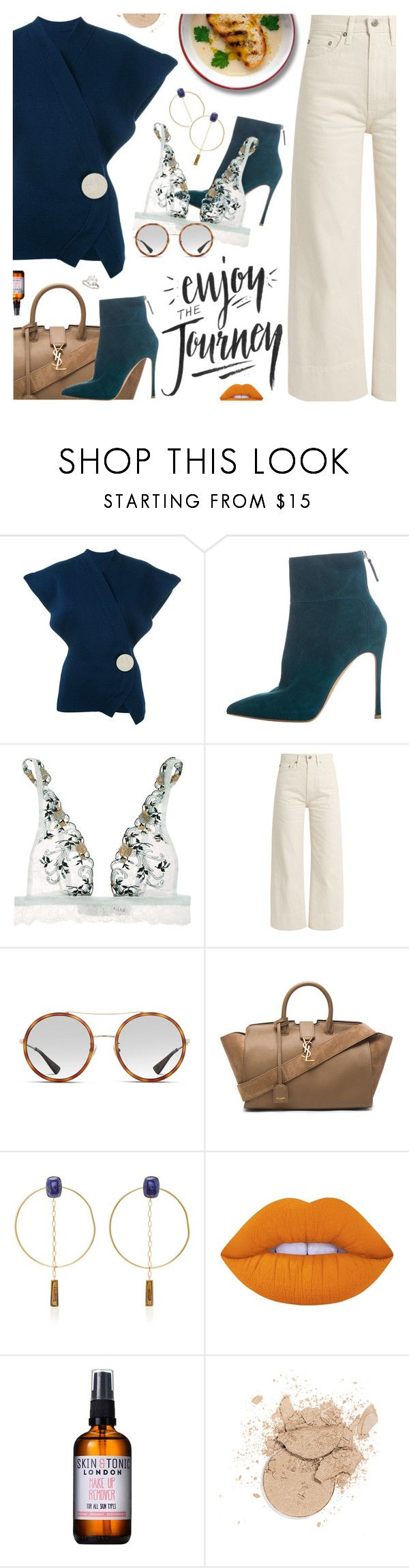 """""""Abracadabra, Steve Miller Band"""" by blendasantos ❤ liked on Polyvore featuring Jacquemus, Gianvito Rossi, La Perla, Brock Collection, Gucci, Yves Saint Laurent, Isabel Marant, Lime Crime and Skin & Tonic"""