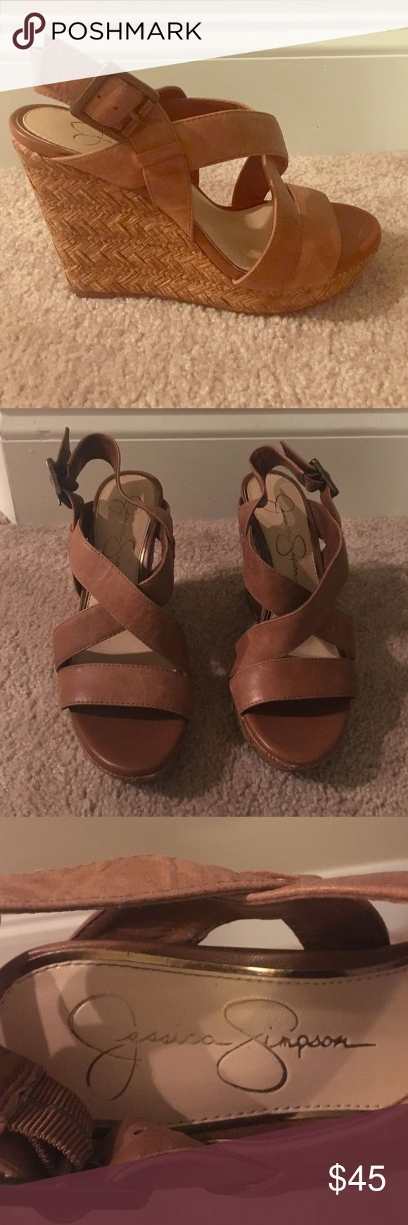Jessica Simpson Wedges Only worn a few times!!! These are great comfortable wedges!! Jessica Simpson Shoes Wedges