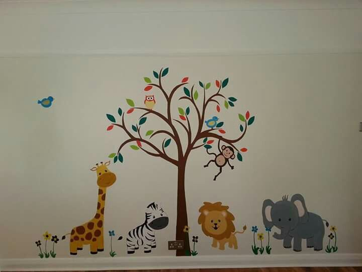 A child's bedroom mural