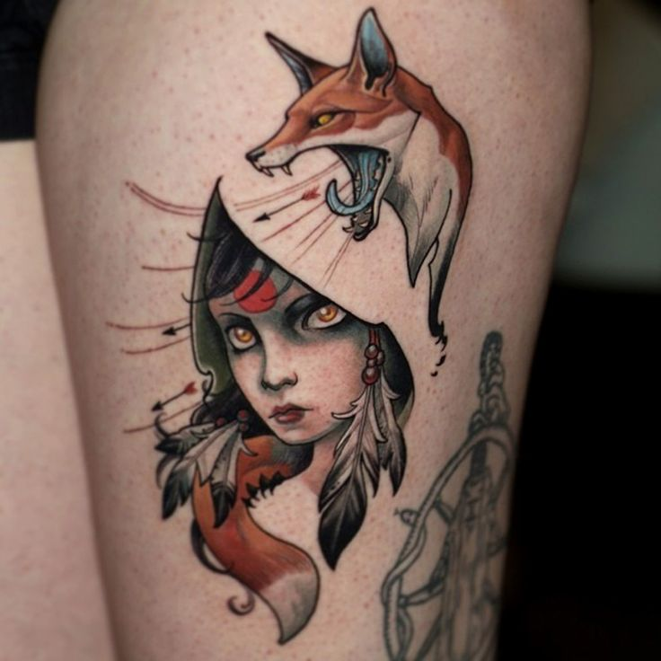 thievinggenius: Tattoo done by Curtis Burgess.
