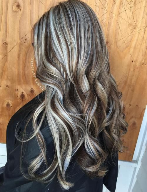 Brown And Silver Balayage Hair