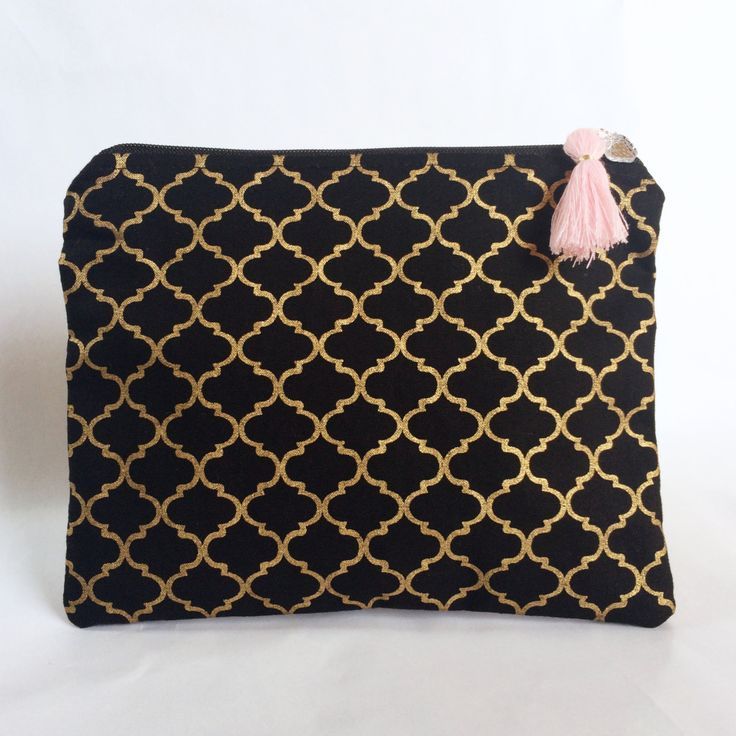 Metallic Quatrefoil Makeup Bag/Pouch by strawberriesncreamm on Etsy