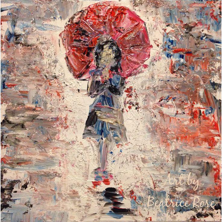 Abstract umbrella art, sold.