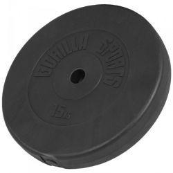 Vinyyli levypaino 15kg, 30,85€ Gorilla Sportsin vinyyli levypaino 15kg painoisena. Paino on muovipinnoitettu 31mm reiällä. Muovipinta estää kolinat, joten sopii hyvin kotikäyttöön. Ilmainen toimitus! #levypaino