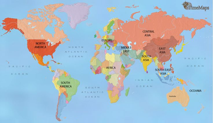 history map of World History Map 1960AD ... click through 1000's of years of global influence on one map!