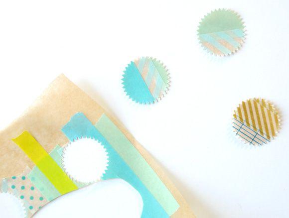 DIY washi tape stickers.: Tape Stickers, Inspiration, Diy Washi, Washi Masking Tapes, Adore Washi Tape, Craft Ideas