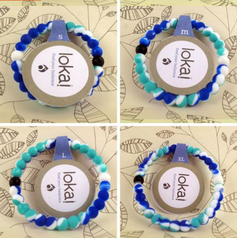 "Lokai Bracelet for a balanced life RAINBOW BLUE Colors ""FREE SHIPPING """