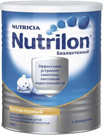 Nutrilon (Nutricia) Безлактозный (с рождения) 400 г  — 719р. --- Молочная смесь Nutrilon Безлактозный с рождения 400 г. Смесь безлактозная сухая на основе казеината кальция. Для диетического (лечебного) питания детей с рождения. Лактазная недостаточность — частая проблема у детей первого года жизни. Непереносимость лактозы -молочного сахара - может возникать при кишечных инфекциях и по ряду других причин. В этом случае, при отсутствии возможности грудного вскармливания, специалисты…