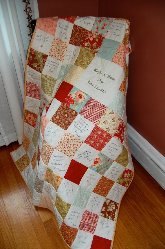 Custom Made Signature Quilt Throw Size Your by chimeracustomquilts