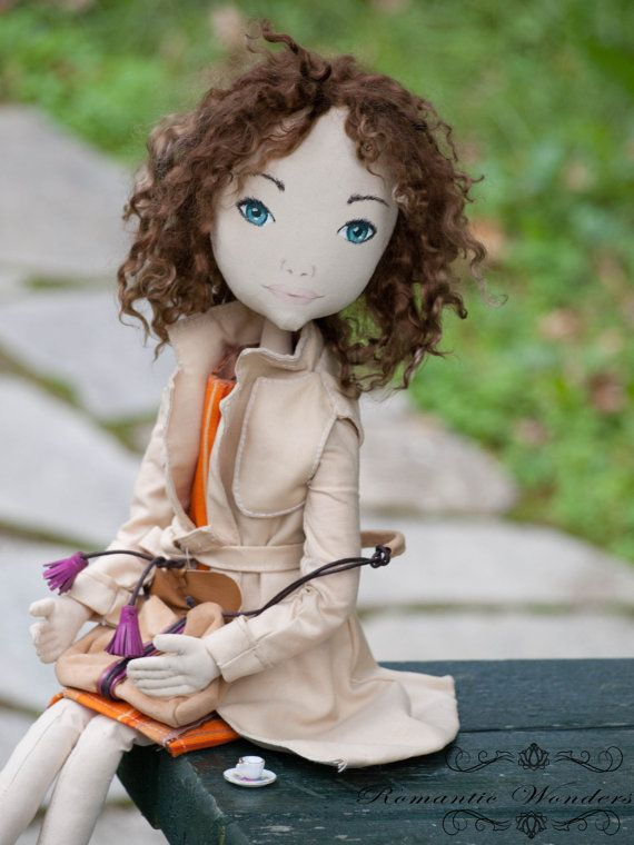 Claudine textile handmade doll made to order by romanticwonders, €150.00
