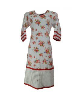 Cotton Floral Printed Women's Kurta