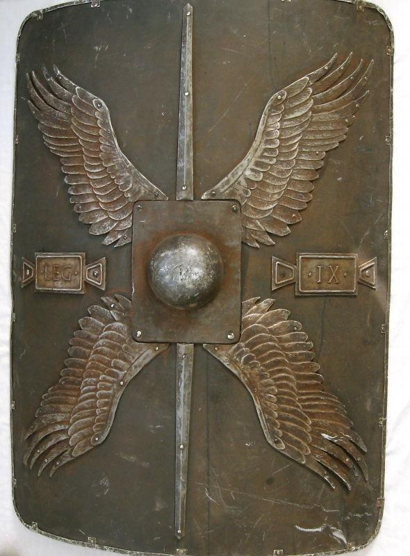 "Roman Shield ~ ""The winged sun is a symbol associated with divinity, royalty and power in the Ancient Near East (Egypt, Mesopotamia, Anatolia, and Persia"" --wikipedia"