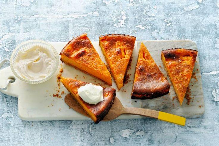 Speculaaskruiden en pompoen samen in een taart. Dat is toch op en top herfst? - Recept - Allerhande