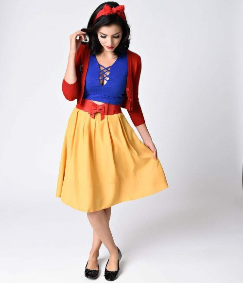 Create a Snow White style with these separates from Unique Vintage.