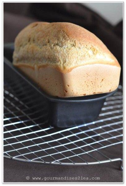 Quoi, ce n'est pas la première fois que je vous propose une telle recette ? Hé ben, encore une nouvelle version qui ne nécessite pas de s'en mettre partout et juste la cuve d'un robot à laver. Je le cuit dans un moule à pain (un petit moule à cake fera...