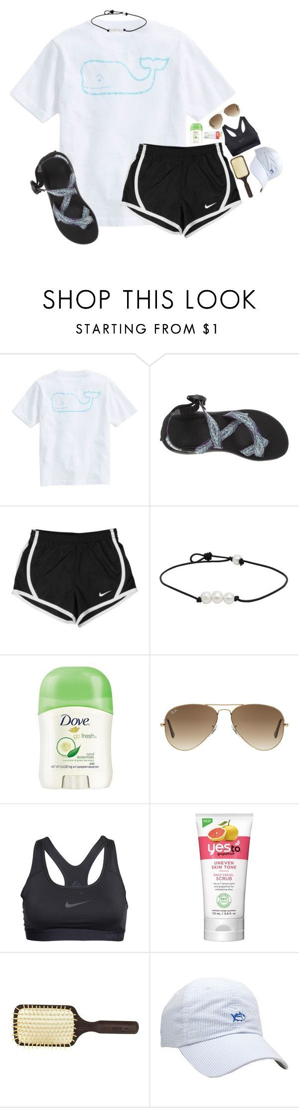 """""""GN y'all! Comment some nice things for me to wake up to!"""" by lydia-hh ❤ liked on Polyvore featuring Vineyard Vines, Chaco, NIKE, Dove, Ray-Ban, Ibiza Hair and Southern Tide"""