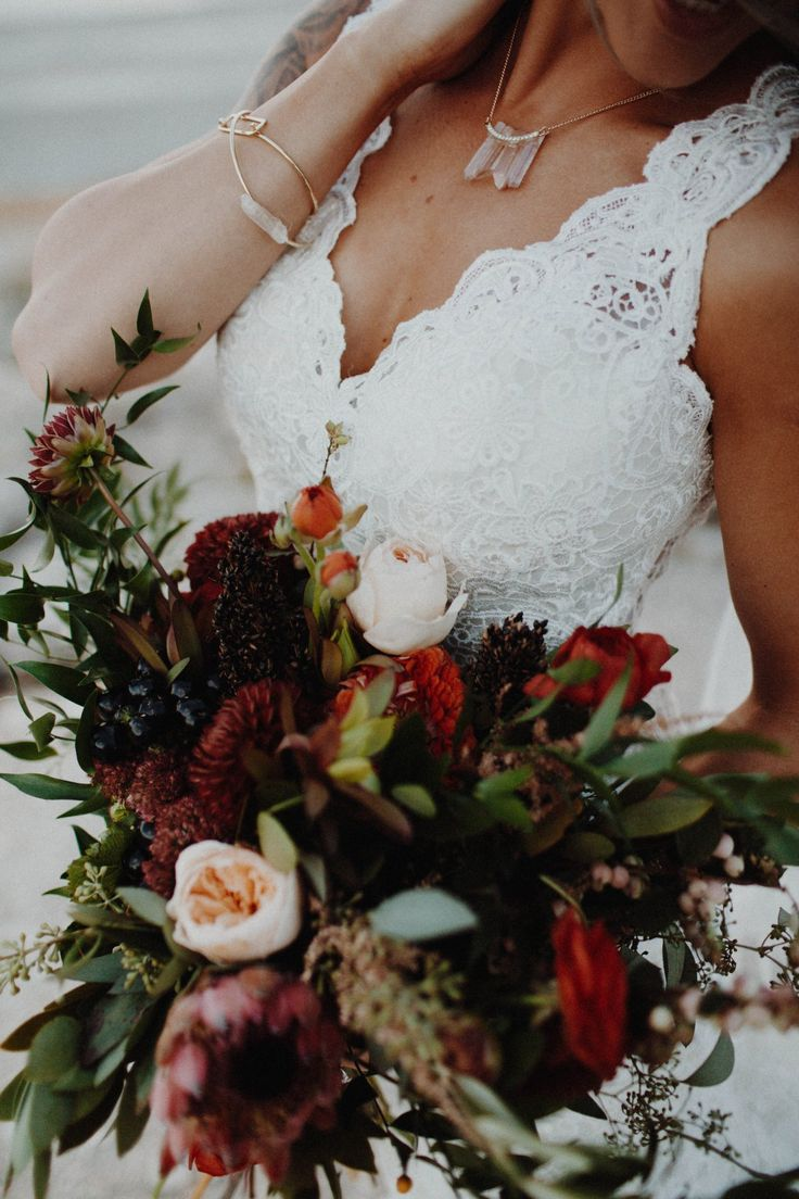 Romantic Lace Wedding Dress in Boho-Chic Styled Shoot. Hope by Rebecca Ingram <3