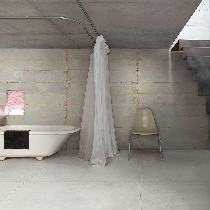 Rustikt uttrykk på badet #flisekompaniet