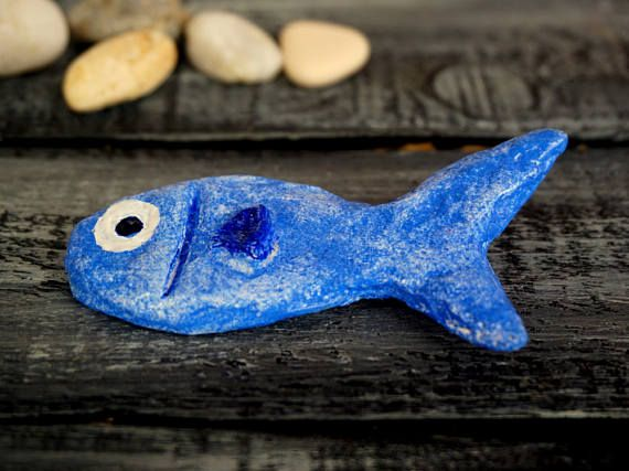 Cute Fish Animal Brooch Fish Jewelry Paper Mache Brooch