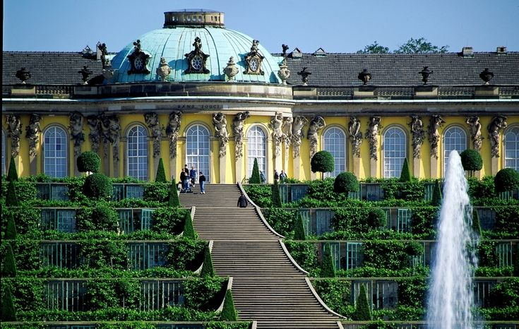 Sansouci, Potsdam, Germany... the picture does not do it justice